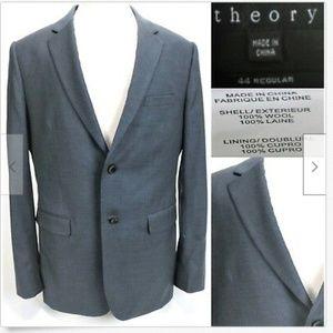 Theory Men's Blazer Sport Coat Size 44R Gray